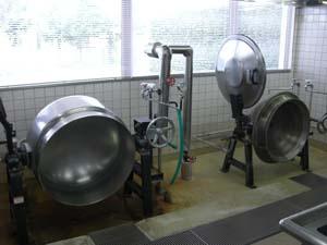 蒸気回転釜とガス回転釜